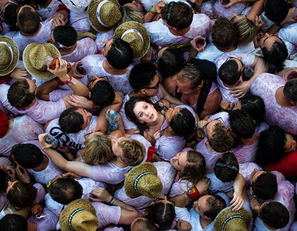San Fermin Running of the Bulls in Pamplona, Spain