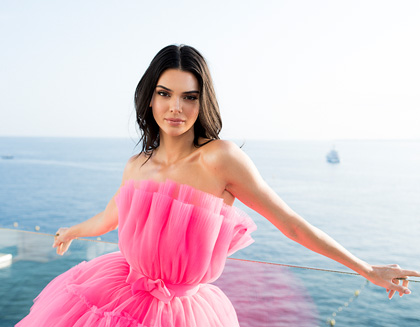 Kendall Jenner poses for portraits during the amfAR Cannes Gala in 2019
