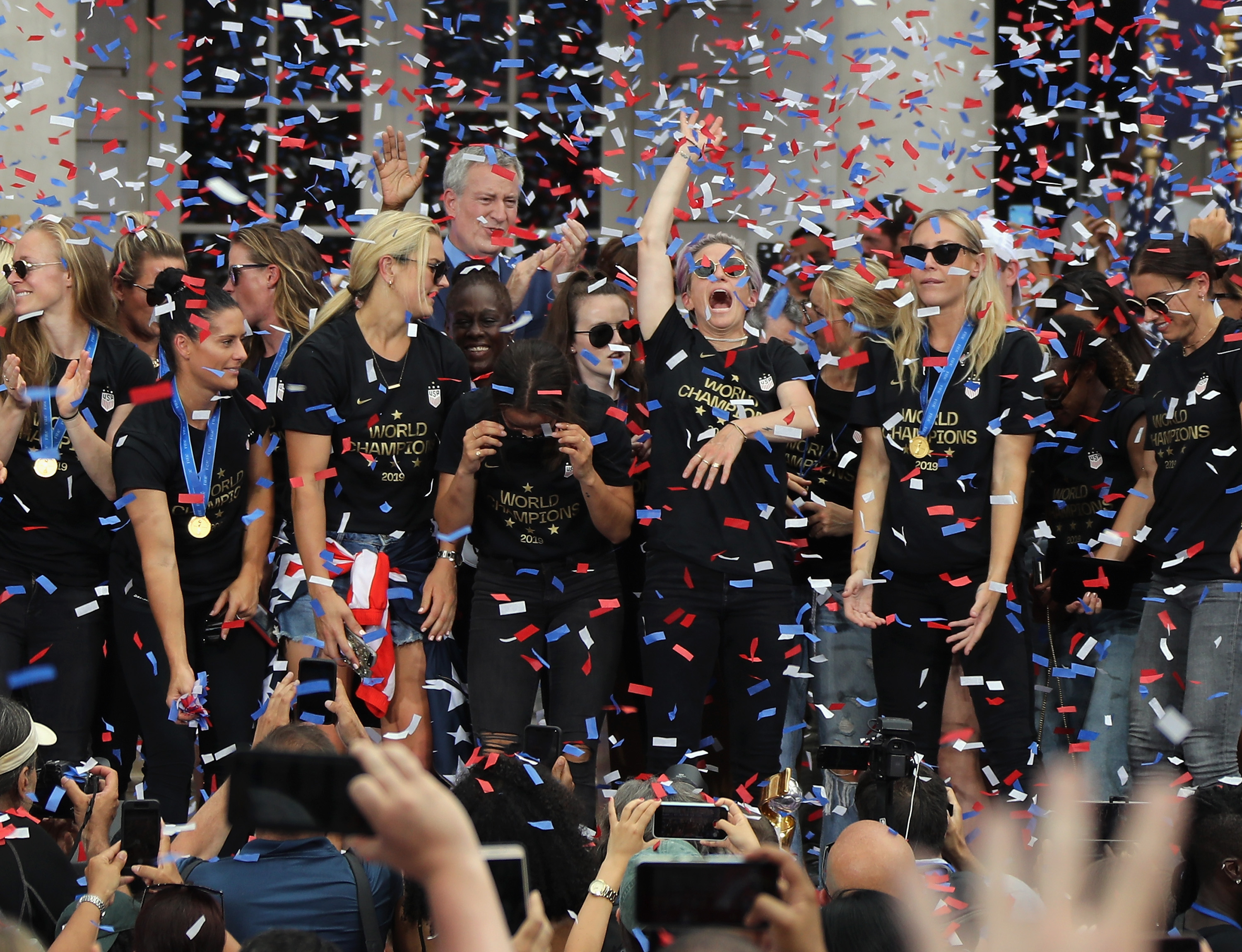 USA Women's Soccer Team Celebrate World Cup Victory